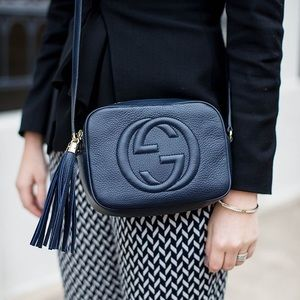 GUCCI | Authentic Soho Disco Bag Navy